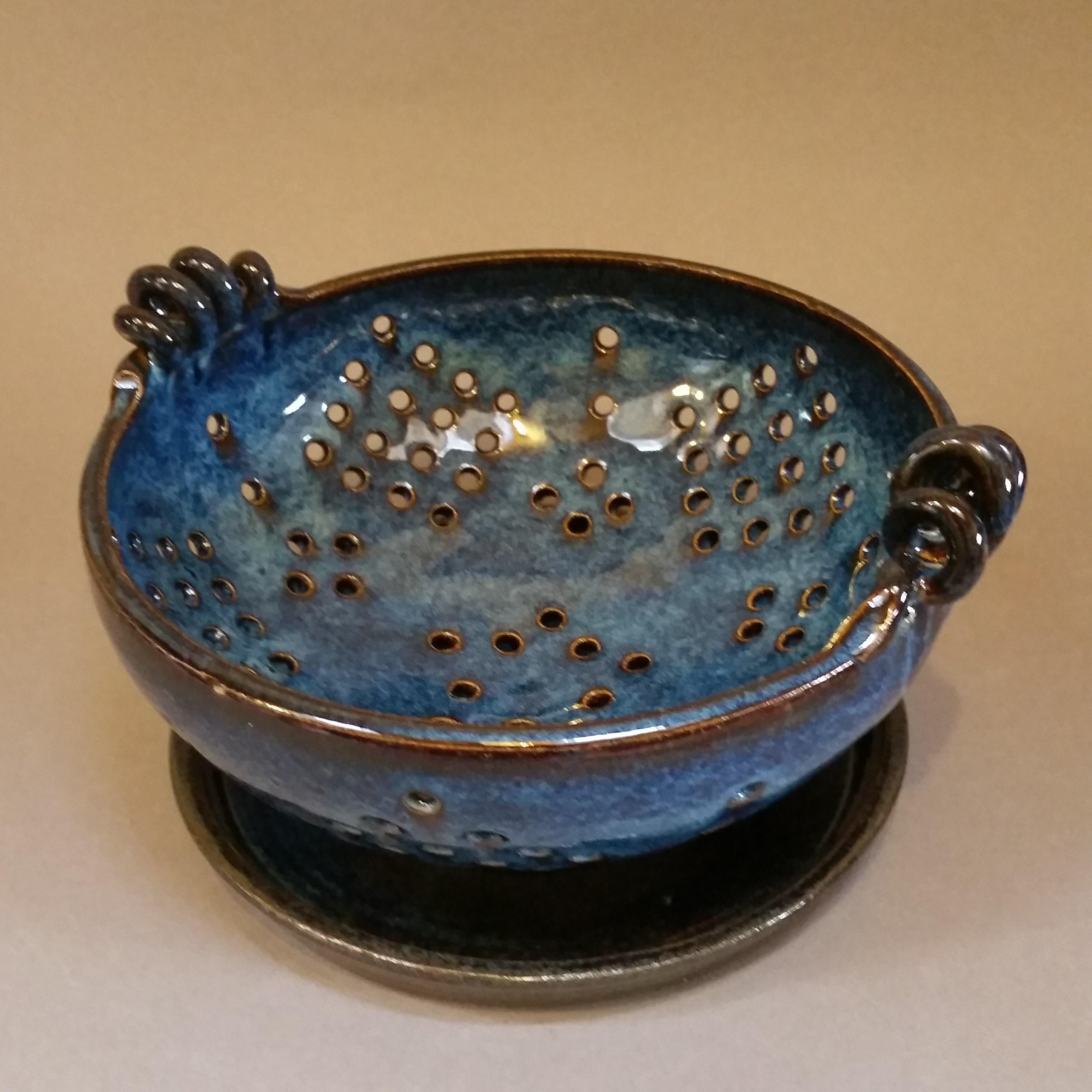 blue colander
